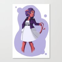 beth hoeckel Canvas Prints featuring Beth by Zoe Coughlin