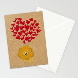 Lion Fall In Love Stationery Cards