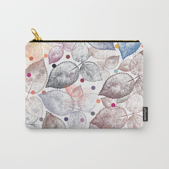 Leaf mosaic(24). Carry-All Pouch
