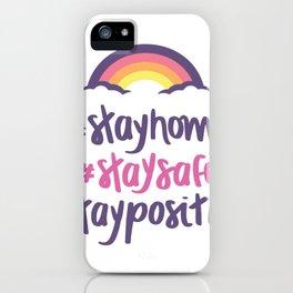 Bleib zuhause und sicher iPhone Case