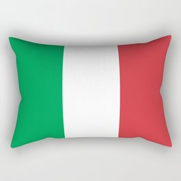 National Flag of Italy, High Quality Image Rectangular Pillow