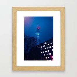 Berlin TV Tower at Night Framed Art Print