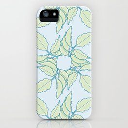 Serrated Leaflet Grid Pattern iPhone Case