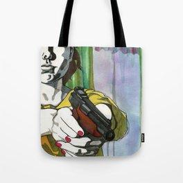 Girl with a Gun Tote Bag