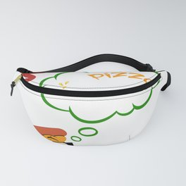Funny Pizza Lover Gift Wonder if Pizza Thinks About Me Too Pizza Humor Fanny Pack