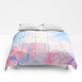 Watercolor Abstract Landscape Pattern Comforters