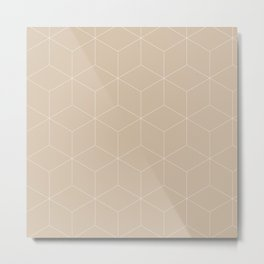 Cubes bege Metal Print