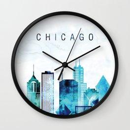 Chicago Illinois Cityscape Wall Clock