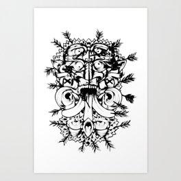 Sebastian Totem Art Print