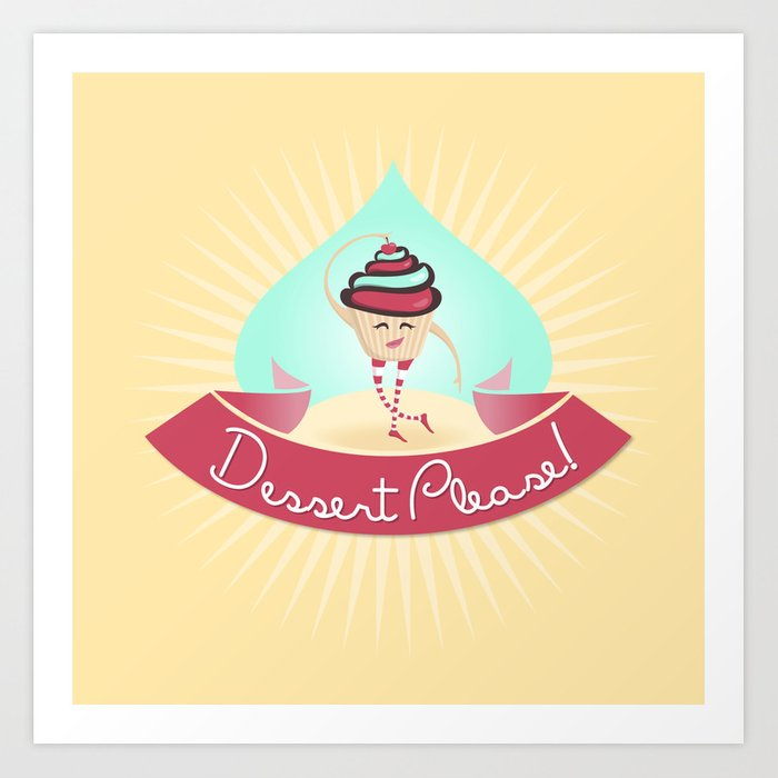 Dessert Please! (Yellow) Art Print