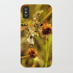 Black-tailed Skimmer Dragonfly iPhone X Slim Case