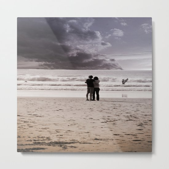 love is Metal Print