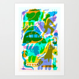 Modern Times (Candy Chaos) Art Print
