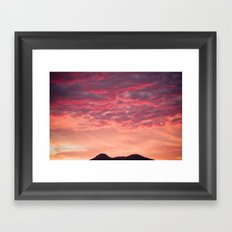 Even the sun sets in paradise Framed Art Print