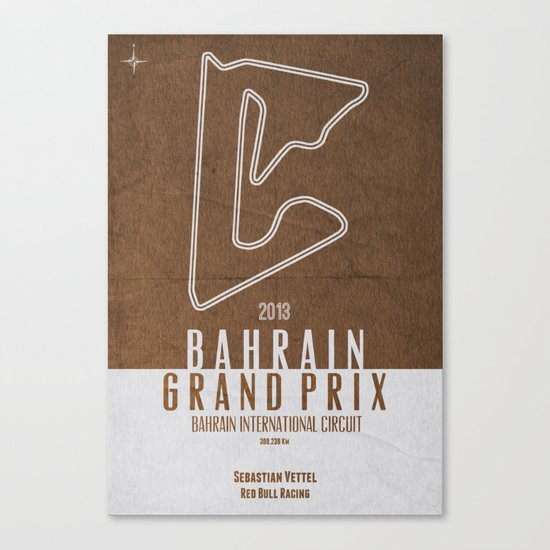 2013 Bahrain Grand Prix Canvas Print