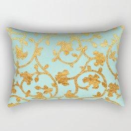 Golden Damask pattern Rectangular Pillow