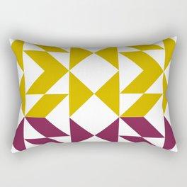 Retro Geometric Abstraction Rectangular Pillow