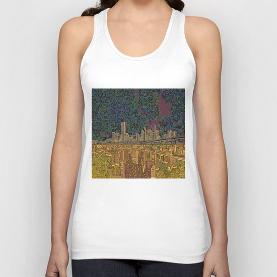 houston city skyline Unisex Tank Top