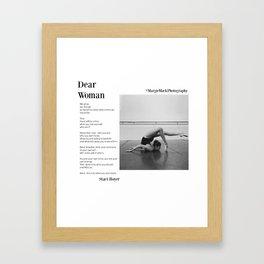 Dear Woman - Bend Framed Art Print