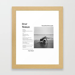 Dear Woman - Bend Framed Art Print