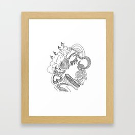 dreams in line Framed Art Print