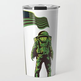 American Astronaut design Man on the Moon Landing Travel Mug