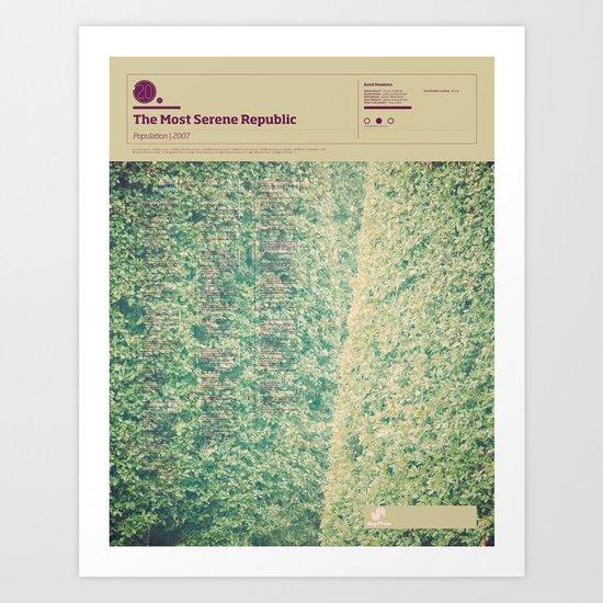 The Visual Mixtape 2010 | Population | 20 / 25 Art Print