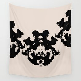 Black Rorschach inkblot Wall Tapestry