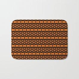 Dividers 02 in Orange Brown over Black Bath Mat