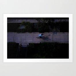 evening ride Art Print