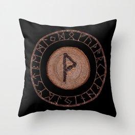 Wunjo Elder Futhark Rune Joy, comfort, pleasure. Fellowship, harmony, prosperity. Ecstasy, glory Throw Pillow