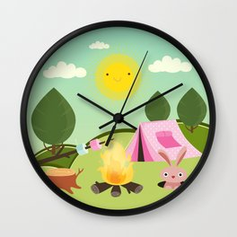 camping , outdoors , nursery decor , Wall Clock