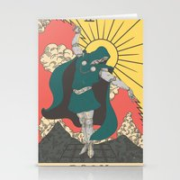 mf doom Stationery Cards featuring DOOM by andbloom