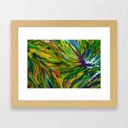 Abstract Autumn Ivy Framed Art Print