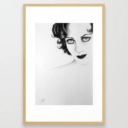 Joan Crawford Minimal Portrait Framed Art Print