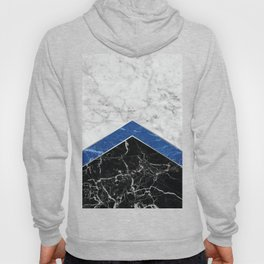 Arrows - White Marble, Blue Granite & Black Granite #974 Hoody
