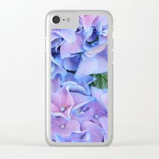 Blue hydrangea Clear iPhone Case