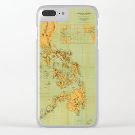 Map Of The Philippines 1898 Clear iPhone Case