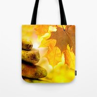 religious Tote Bags featuring Fall meditation  by UtArt