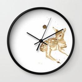 Coffee Fawn Wall Clock