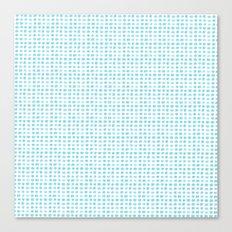 Watercolor Squares Blue Canvas Print