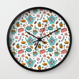 tea time in winter Wall Clock