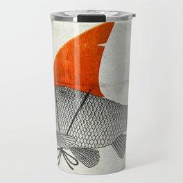 Goldfish with a Shark Fin Travel Mug