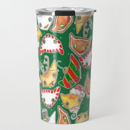 """Oro?"" Christmas FOREST GREEN Travel Mug"