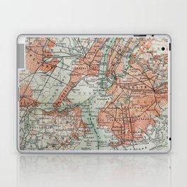 Vintage Map New York Laptop & iPad Skin