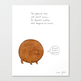 the spherical bear Canvas Print