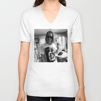 ryan gosling V-neck T-shirts featuring Macaulay Gosling by Jad Bean
