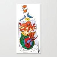 siren Canvas Prints featuring Siren by Ricardo Cavolo