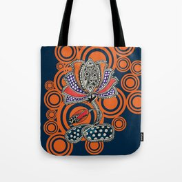 Madhubani - Lotus Fish 2 Tote Bag