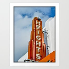 heights theatre Art Print